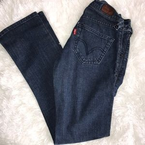 1S Levi's Slouch Straight 504 Jeans Vintage